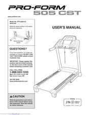 Pro-form 505 Cst Treadmill Manuals