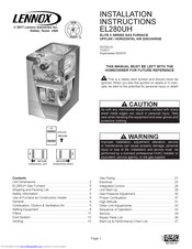 Lennox EL280UH110P60C Manuals
