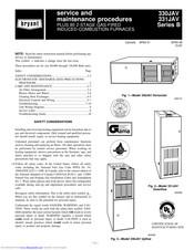 Bryant 331JAV Manuals