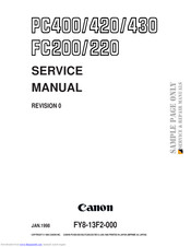 Canon PC400 Manuals