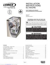Lennox EL195UHE Elite Series Manuals