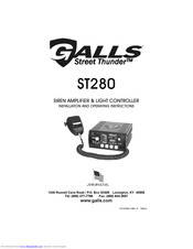 Galls Street Thunder ST280 Manuals