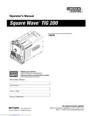Lincoln Electric Square Wave TIG 200 Manuals