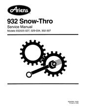 Ariens 932025 Manuals