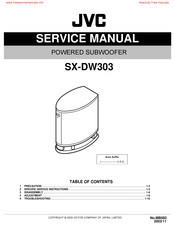 Jvc SX-DW303 Manuals
