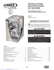 Lennox EL195UH080NE48C Manuals