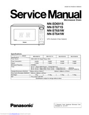 Panasonic NN-ST641W Manuals
