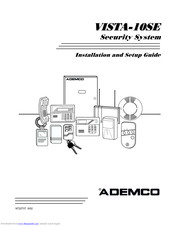 Ademco Security System VISTA-10SE Manuals