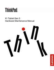 Lenovo THINKPAD X1 Tablet Gen 3 Manuals