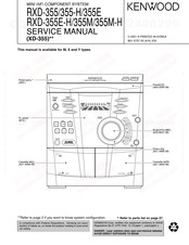 Kenwood RXD-355 Manuals