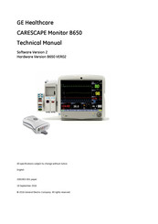 Ge Healthcare CARESCAPE Monitor B650 Manuals