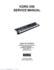 Korg MICROX X50 Manuals