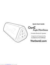 Oontz Angle 3 RainDance Manuals
