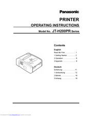 Panasonic JT-H200PR Series Manuals