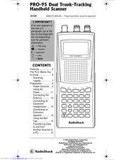 Radio Shack Pro-95 Manuals