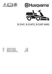 Husqvarna R 214TC Manuals