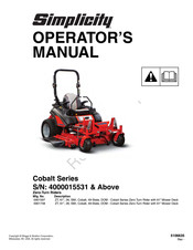 Simplicity Cobalt Series Manuals