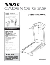 Weslo CADENCE G 3.9 Manuals