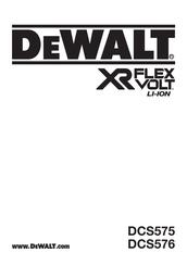 Dewalt DCS575 Manuals