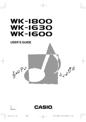 Casio WK-1800 Manuals
