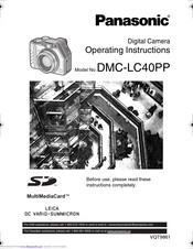 Panasonic Lumix DMC-LC40 Manuals