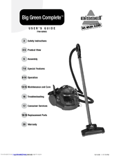 Bissell Big Green Complete Deep Cleaner/Vacuum Manuals