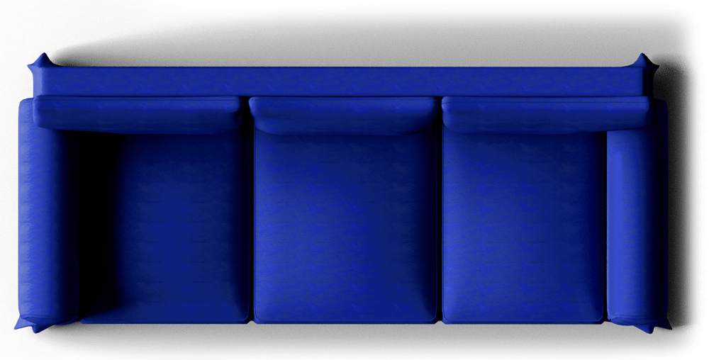 sofa set low cost how to repair leather stitching cad and bim object - ektorp dark blue ikea