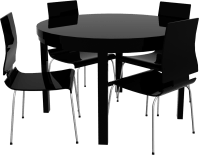 CAD and BIM object - Round Bjursta Table and Chairs - IKEA