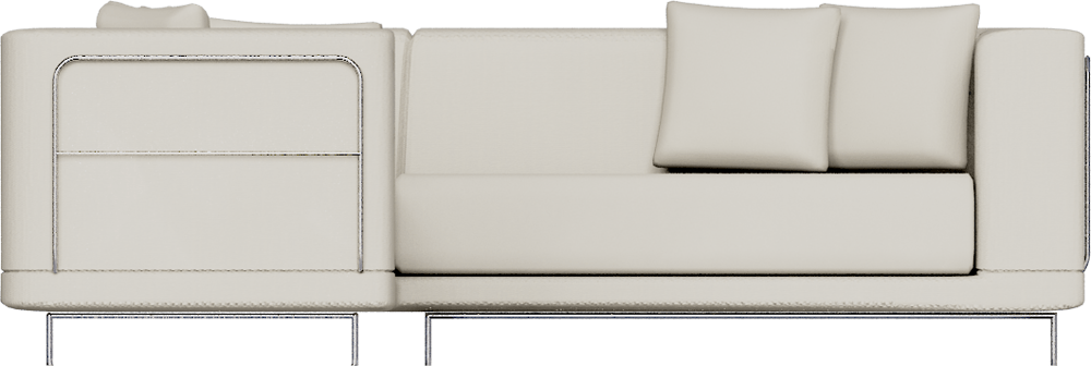 ikea tylosand sofa for less uk cad and bim object - corner