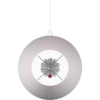 CAD and BIM object - Torch Lamp White lampshade - Baccarat