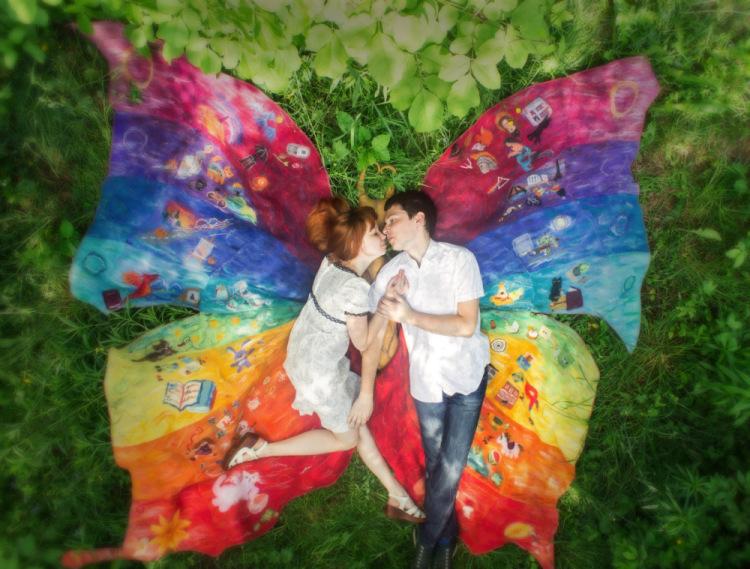 романтика с пеперуда