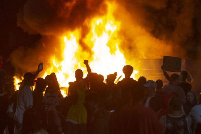 Los disturbios de la extrema izquierda en Etsados Unidos