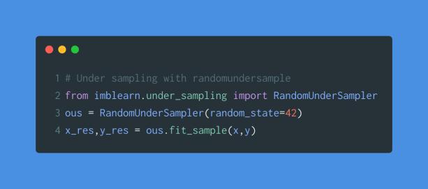 random under sample code