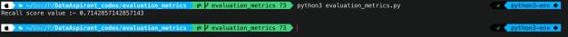 Recall python script output