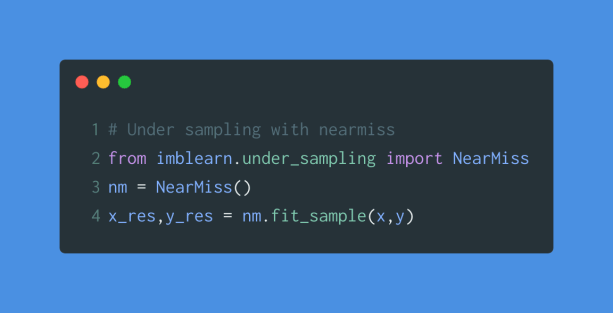 under sampling with nearness
