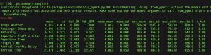 PyMC3 output