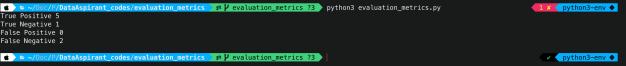 confusion matrix output