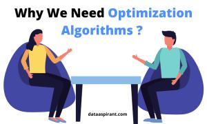 Why we need optimization algorithms