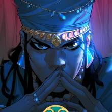 Graphic novel cover of Malika Warrior Queen