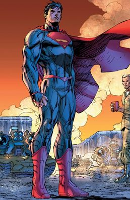 In 'Superman Unchained', Superman stands in front of General Sam Lane, Lois Lane's father.