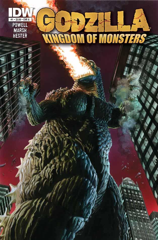In 'Godzilla: Kingdom Of Monsters' (2011) #1, Godzilla terrorizes the citizens of Japan.
