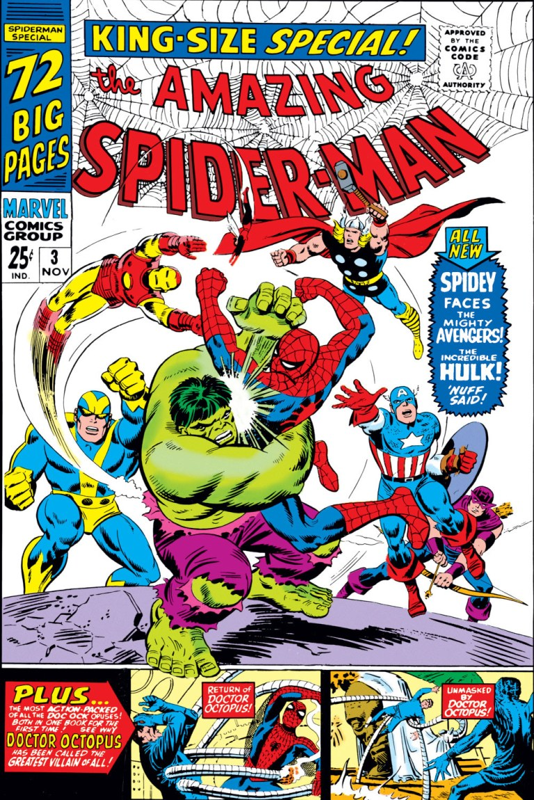 'Amazing Spider-Man Annual' (1966) #3 marks the first appearance of Spider-Man and Hulk in Marvel continuity.