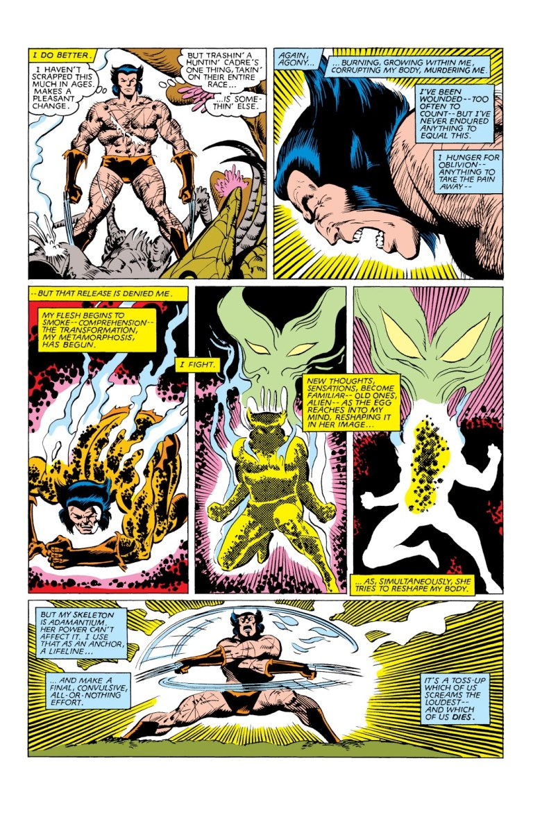 n 'Uncanny X-Men' (1963) #162, as the Brood embryo hatches, Wolverine's healing factor fights back.