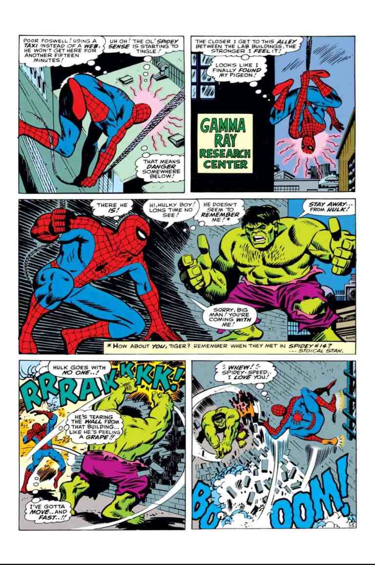 In 'The Amazing Spider-Man Annual' (1966) #3, Spider-Man tracks down the Hulk to send him back to the Avengers.