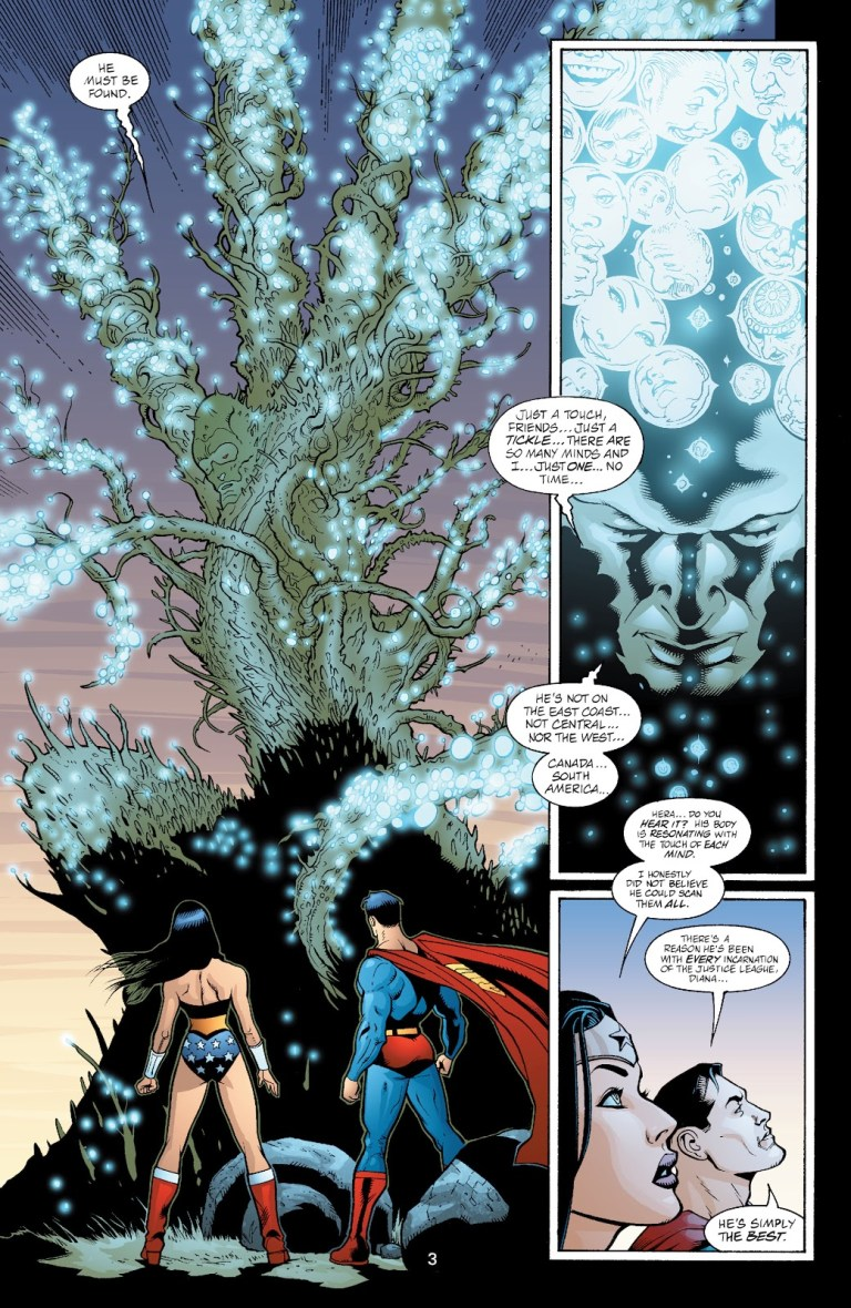 In 'JLA' (2003) #85, Martian Manhunter scans all the minds on Earth.
