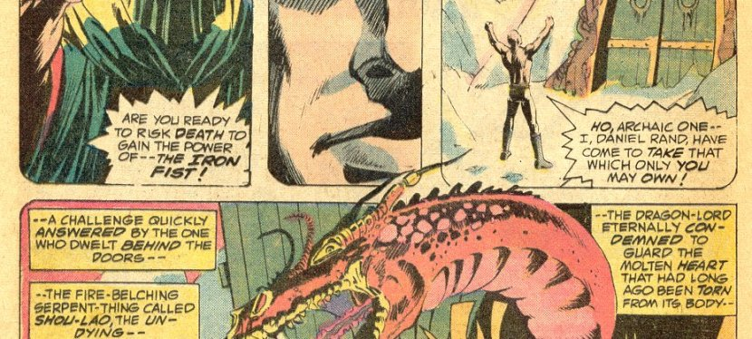 Marvel Day: In The Dream Of K'un Lun, Danny Rand Defeats The Dragon Shou-Lao The Undying And Becomes The Iron Fist