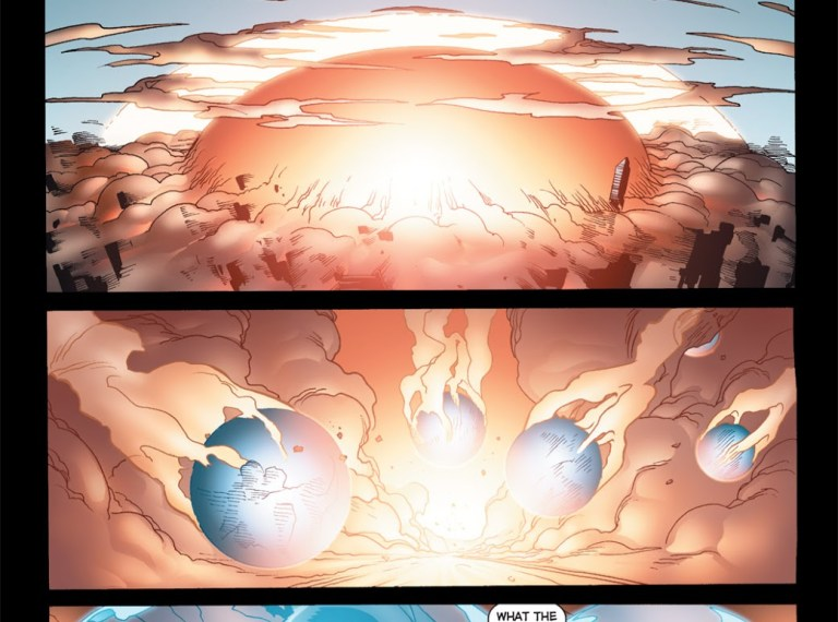 In 'The Authority: Revolution' (2005) #4, Jenny Quantum saves members of the Authority from a  massive nuclear explosion triggered by the Doctor.