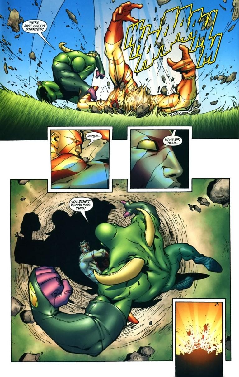 In 'Captain Atom: Armageddon' #3, Captain Atom battles Maul near the Washington Monument.