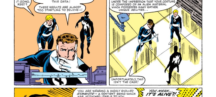 Marvel Day Series: Spider-Man Discovers The Origin Of The Alien Symbiote From Mister Fantastic