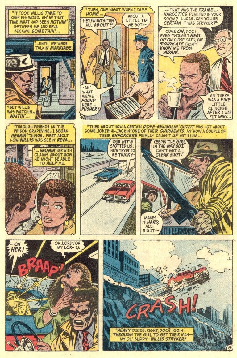 In 'Hero For Hire' (1972) #1, Luke Cage tells Dr. Burnstein he was sentenced to jail for a crime he did not commit.